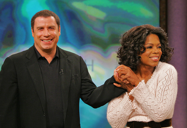 Oprah and John Travolta
