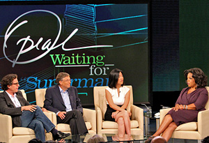 Davis Guggenheim, Bill Gates, Michelle Rhee and Oprah