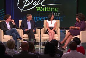 Michelle Rhee, Bill Gates and Davis Guggenheim
