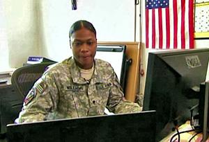 Spc. Jasmine Williams in uniform