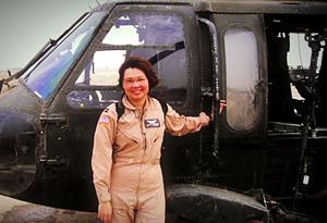 Tammy Duckworth as a soldier