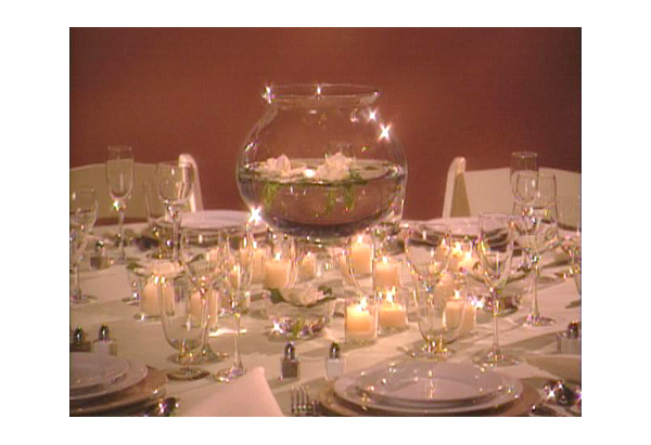 Votive candle centerpiece