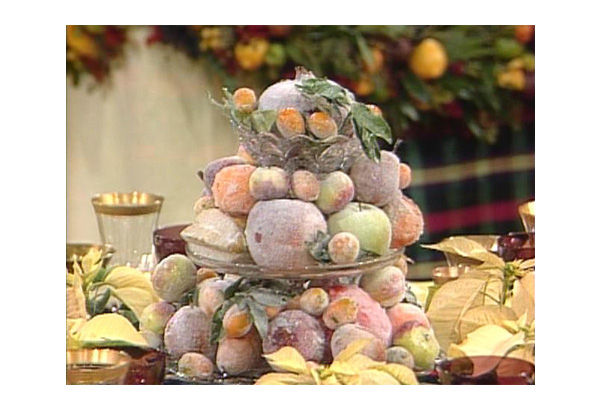 Sugared fruits centerpiece