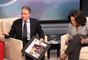 Jon Stewart and Oprah