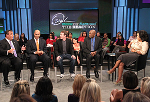 Oprah and guests