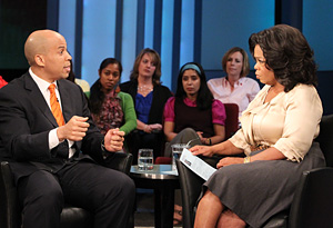 Mayor Cory Booker and Oprah