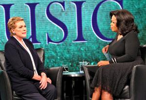 Julie Andrews and Oprah