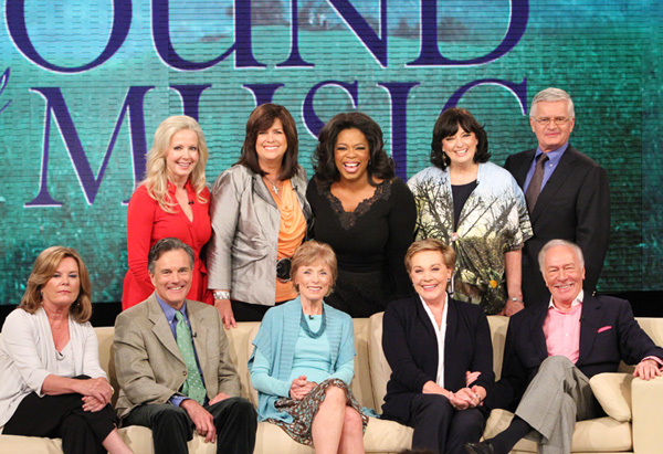 Oprah and the cast of The Sound of Music