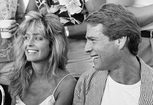Farrah Fawcett and Ryan O'Neal, 1982