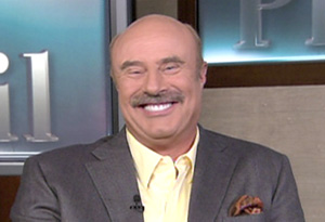 Dr. Phil McGraw on the set of Dr. Phil
