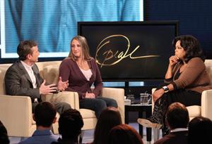 Dan Abrams, Rebecca Nesler and Oprah