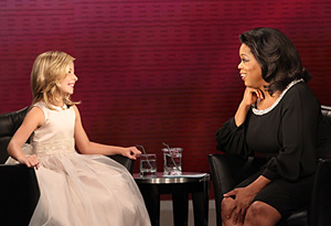 Jackie Evancho and Oprah