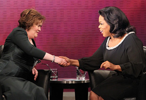 Susan Boyle and Oprah