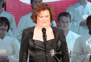 Susan Boyle performs.
