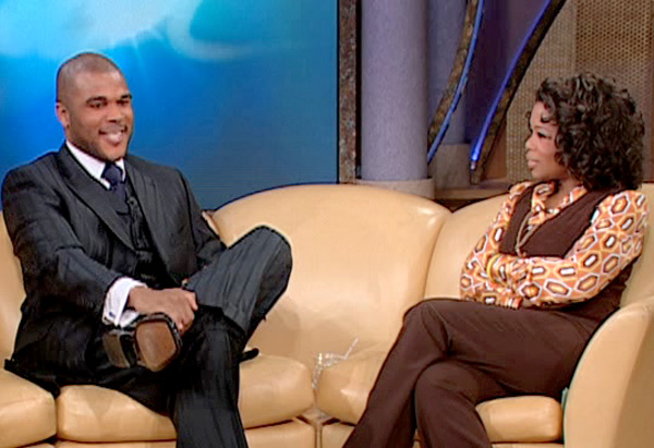 Tyler Perry on The Oprah Show on March 4, 2005