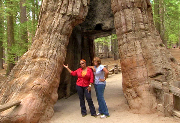 Oprah and Gayle at Yosemite