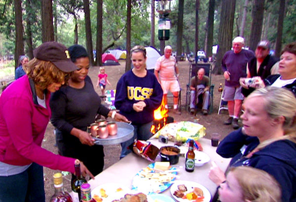 Gayle, Oprah and their fellow campers