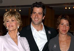 Jane Fonda with her children, Troy and Vanessa