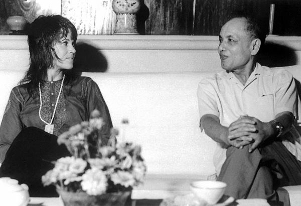 Jane Fonda and Nguyen Duy Trinh