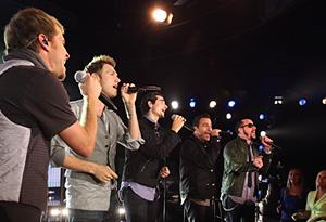 The Backstreet Boys perform.