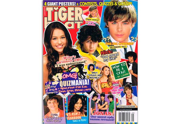 September 2007 Tiger Beat cover