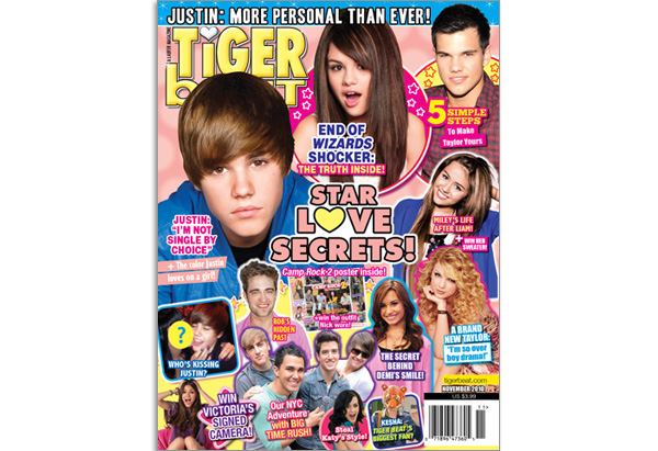 November 2010 Tiger Beat cover