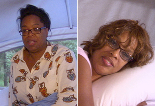 Oprah and Gayle split screen