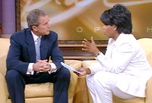 Gov. George W. Bush and Oprah