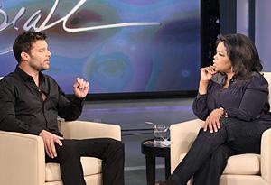 Ricky Martin and Oprah