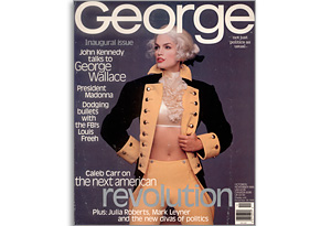 Cindy Crawford on the first cover of George