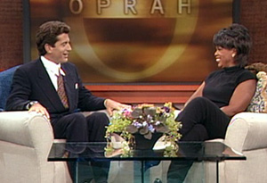 John F. Kennedy Jr. and Oprah