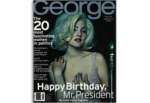 Drew Barrymore on the cover of George