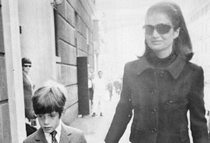 John Kennedy Jr. and his mother, Jackie