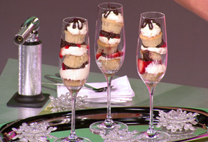 Strawberry Champagne Sparkler Cupcakes