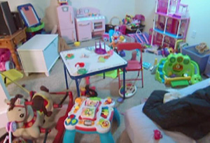 Mindy and Billy's family room before