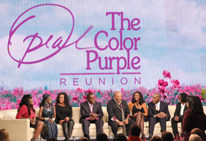 The cast of The Color Purple and Quincy Jones