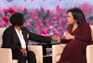 Whoopi Goldberg and Oprah