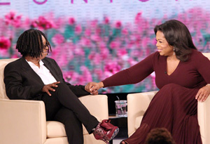 Whoopi Goldberg and Oprah