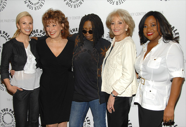 Whoopi Goldberg with her The View co-stars