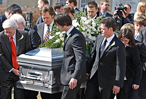 The Osmonds at Michael's funeral