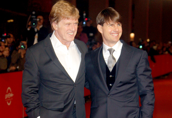Robert Redford and Tom Cruise