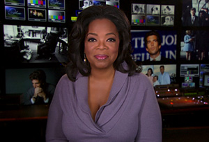 Oprah in the control room