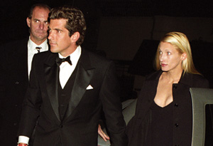 John F. Kennedy Jr. and his wife, Carolyn