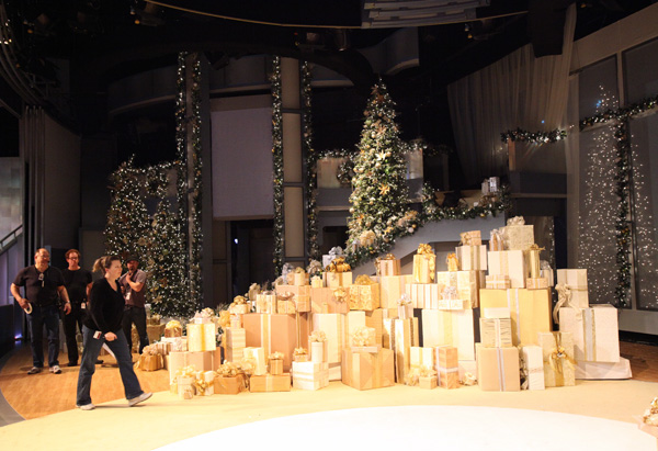 Oprah's winter wonderland set