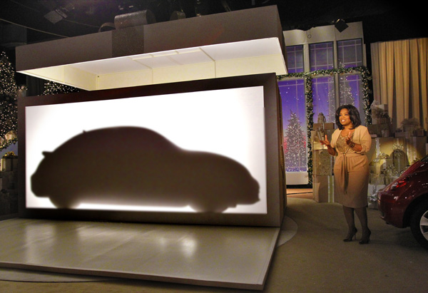 The silhouette of a 2012 Volkswagen Beetle