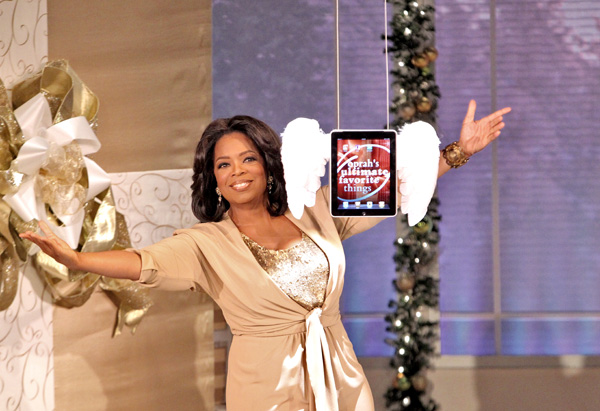 Oprah with an iPad