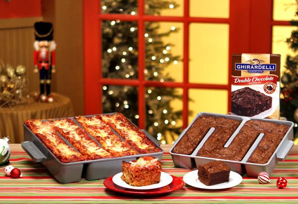 Baker's Edge Brownie Pan and Lasagna Pan, plus Ghirardelli brownie mix