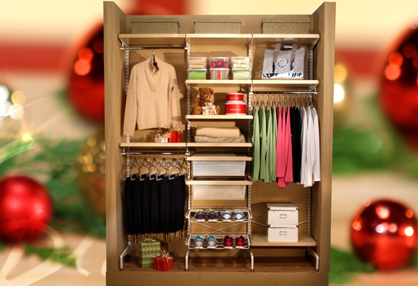 Elfa Customizable Closet System from the Container Store