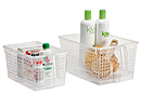 Clear Handled Storage Basket