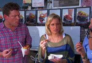 Chef Tyler Florence and Ali Wentworth